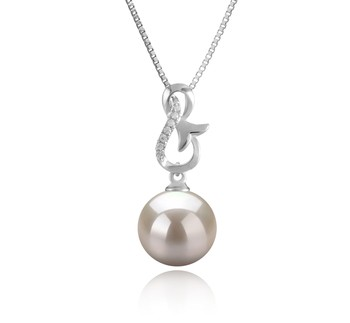 Hazel White 9-10mm AAAA Quality Freshwater 925 Sterling Silver Cultured Pearl Pendant