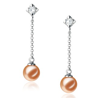 Ingrid Pink 6-7mm AAAA Quality Freshwater 925 Sterling Silver Cultured Pearl Earring Pair