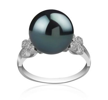 Ireland Black 12-13mm AA Quality Tahitian 925 Sterling Silver Cultured Pearl Ring