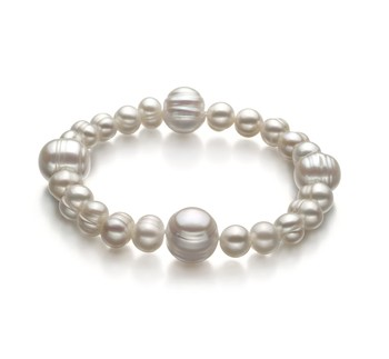 Irina White 6-11mm A Quality Freshwater Cultured Pearl Bracelet