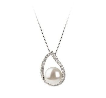 Isabella White 9-10mm AA Quality Freshwater 925 Sterling Silver Cultured Pearl Pendant