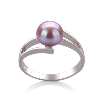 Jenna Lavender 7-8mm AAA Quality Freshwater 925 Sterling Silver Cultured Pearl Ring