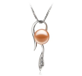 Jennifer Pink 7-8mm AAAA Quality Freshwater 925 Sterling Silver Cultured Pearl Pendant