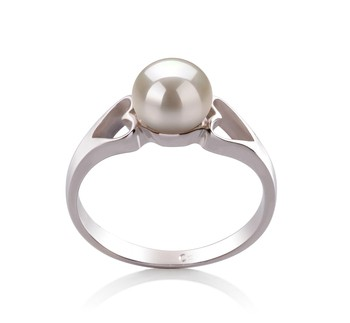 Jessica White 6-7mm AA Quality Freshwater 925 Sterling Silver Cultured Pearl Ring