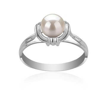 Joy White 6-7mm AAAA Quality Freshwater 925 Sterling Silver Cultured Pearl Ring