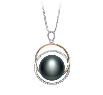 Judith Black 12-13mm AA Quality Freshwater 925 Sterling Silver Cultured Pearl Pendant