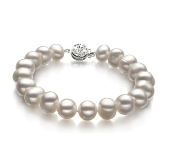 Kaitlyn White 8-9mm A Quality Freshwater Cultured Pearl Bracelet