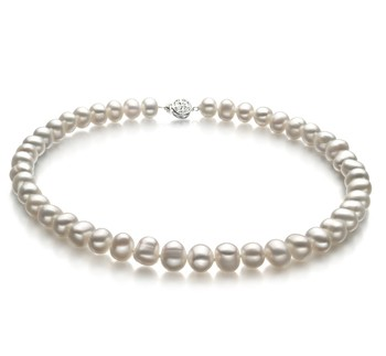Kaitlyn White 8-9mm A Quality Freshwater Cultured Pearl Necklace