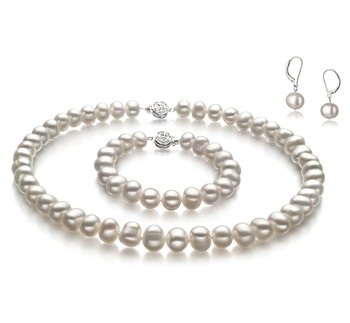 Kaitlyn White 8-9mm A Quality Freshwater Cultured Pearl Set