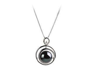 Kelly Black 9-10mm AA Quality Freshwater 925 Sterling Silver Cultured Pearl Pendant