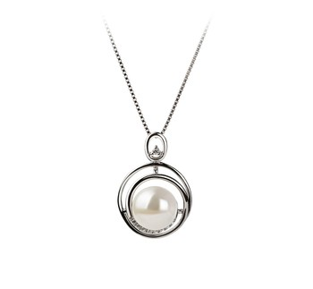 Kelly White 9-10mm AA Quality Freshwater 925 Sterling Silver Cultured Pearl Pendant