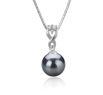 Kendra Black 8-9mm AAAA Quality Freshwater 925 Sterling Silver Cultured Pearl Pendant