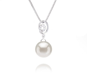 Kimberly White 9-10mm AAAA Quality Freshwater 925 Sterling Silver Cultured Pearl Pendant