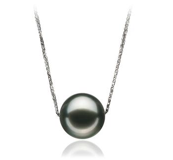 Kristine Black 12-13mm AA Quality Tahitian 14K White Gold Cultured Pearl Pendant