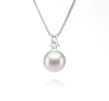 Lauren White 9-10mm AAAA Quality Freshwater 925 Sterling Silver Cultured Pearl Pendant