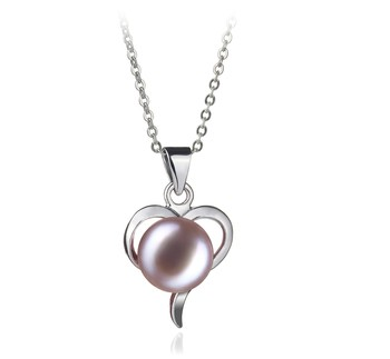 Leeza Lavender 9-10mm AA Quality Freshwater White Bronze Cultured Pearl Pendant