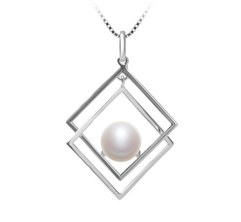 Lilian White 8-9mm AAA Quality Freshwater 925 Sterling Silver Cultured Pearl Pendant