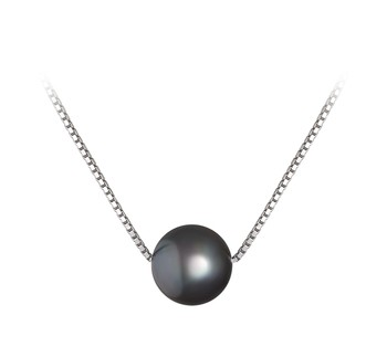 Madison Black 8-9mm AA Quality Freshwater 925 Sterling Silver Cultured Pearl Pendant