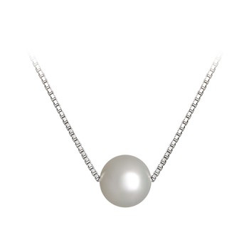 Madison White 8-9mm AA Quality Freshwater 925 Sterling Silver Cultured Pearl Pendant