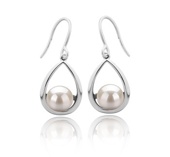 Marcia White 7-8mm AAAA Quality Freshwater 925 Sterling Silver Cultured Pearl Earring Pair