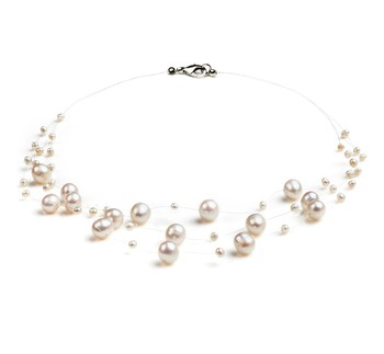 Mary White 3-9mm A Quality Freshwater Cultured Pearl Necklace