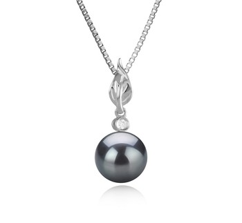 Miriah Black 8-9mm AAAA Quality Freshwater 925 Sterling Silver Cultured Pearl Pendant
