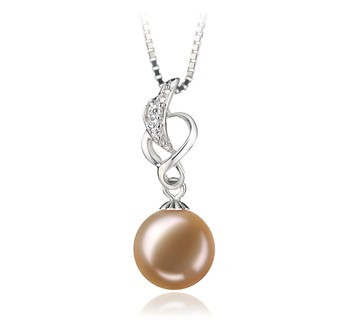 Naomi Pink 9-10mm AA Quality Freshwater 925 Sterling Silver Cultured Pearl Pendant