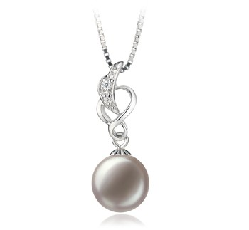 Naomi White 9-10mm AA Quality Freshwater 925 Sterling Silver Cultured Pearl Pendant