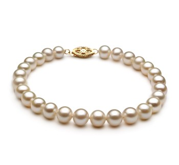 White 6-7mm AA Quality Freshwater Cultured Pearl Bracelet