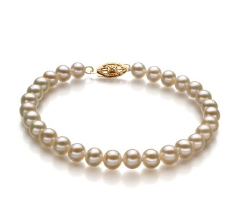 White 5-5.5mm AA Quality Freshwater Cultured Pearl Bracelet
