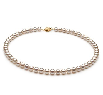 White 6-7mm AAAA Quality Freshwater Cultured Pearl Necklace