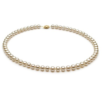 White 6-7mm AA Quality Freshwater Cultured Pearl Necklace