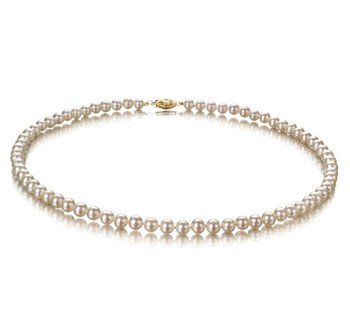White 5-5.5mm AA Quality Freshwater Cultured Pearl Necklace