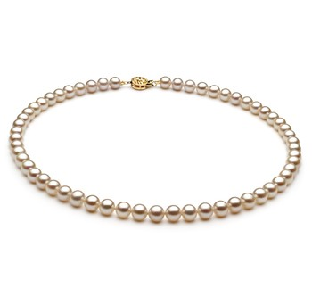White 6-7mm AAA Quality Freshwater Cultured Pearl Necklace