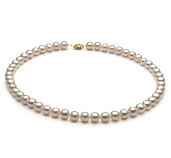 White 6.5-7.5mm AA Quality Freshwater Alloy Cultured Pearl Necklace