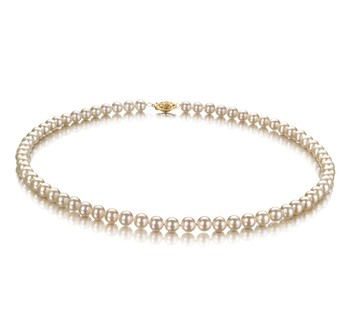 White 5-5.5mm AAAA Quality Freshwater Cultured Pearl Necklace