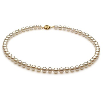 White 6-7mm AA Quality Japanese Akoya Cultured Pearl Necklace