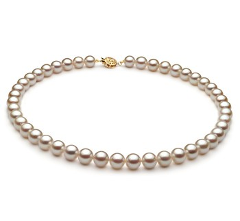 White 8.5-9mm AA Quality Japanese Akoya Cultured Pearl Necklace