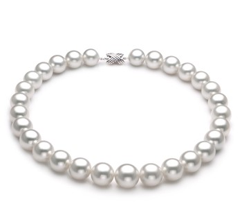 White 14-17mm AAA Quality South Sea 14K White Gold Cultured Pearl Necklace