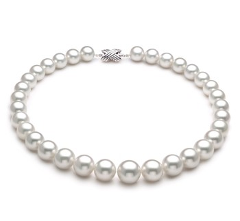 White 12-16mm AAA Quality South Sea 14K White Gold Cultured Pearl Necklace