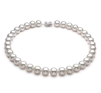 White 12-13mm AAA Quality South Sea 14K White Gold Cultured Pearl Necklace