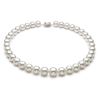 White 11-14mm AAA+ Quality South Sea 14K White Gold Cultured Pearl Necklace