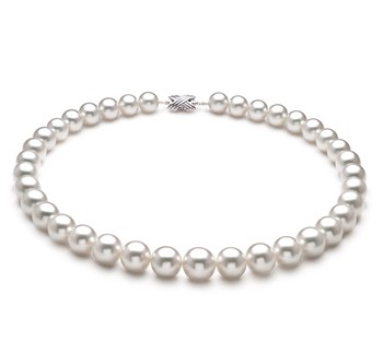 White 10-14mm AAA+ Quality South Sea 18K White Gold Cultured Pearl Necklace