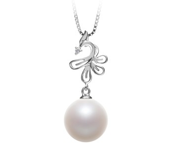 Phoenix White 10-11mm AAAA Quality Freshwater 925 Sterling Silver Cultured Pearl Pendant