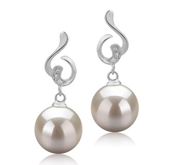 Priscilla White 8-9mm AAAA Quality Freshwater 925 Sterling Silver Cultured Pearl Earring Pair