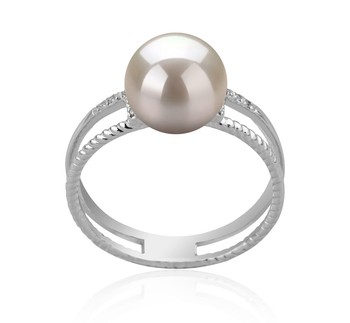 Rahara White 8-9mm AAA Quality Japanese Akoya 925 Sterling Silver Cultured Pearl Ring