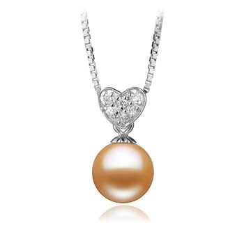 Randy Pink 7-8mm AAAA Quality Freshwater 925 Sterling Silver Cultured Pearl Pendant