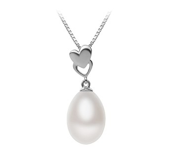 Rea White 10-11mm AA - Drop Quality Freshwater 925 Sterling Silver Cultured Pearl Pendant