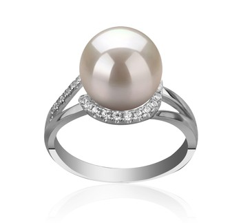 Royisal White 9-10mm AAAA Quality Freshwater 925 Sterling Silver Cultured Pearl Ring