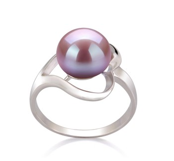 Sadie Lavender 9-10mm AA Quality Freshwater 925 Sterling Silver Cultured Pearl Ring
